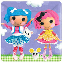 Lalaloopsy Large 10 Inch Square Lunch Dinner Plates - Purple
