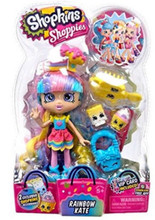 """Shopkins 6"""" Plastic Doll with Accessories-Rainbow Kate"""