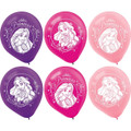 Princess Ariel Little Mermaid  Pack of 6 Latex Rubber Balloons (Helium Quality)