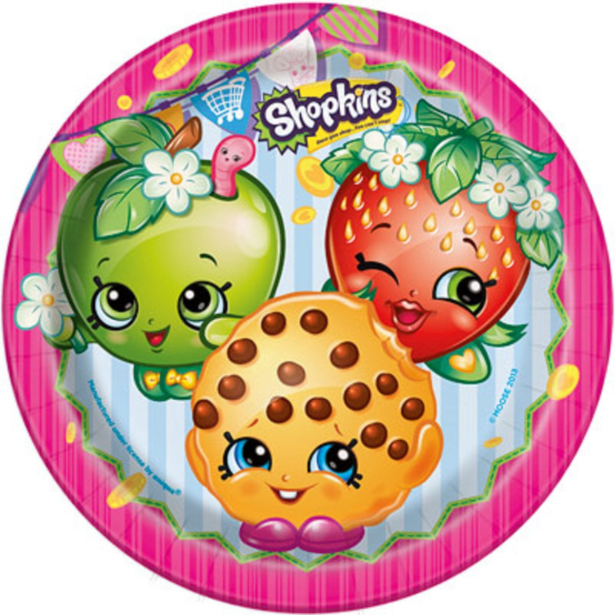 Shopkins Large 9 Inch Round Lunch Plates
