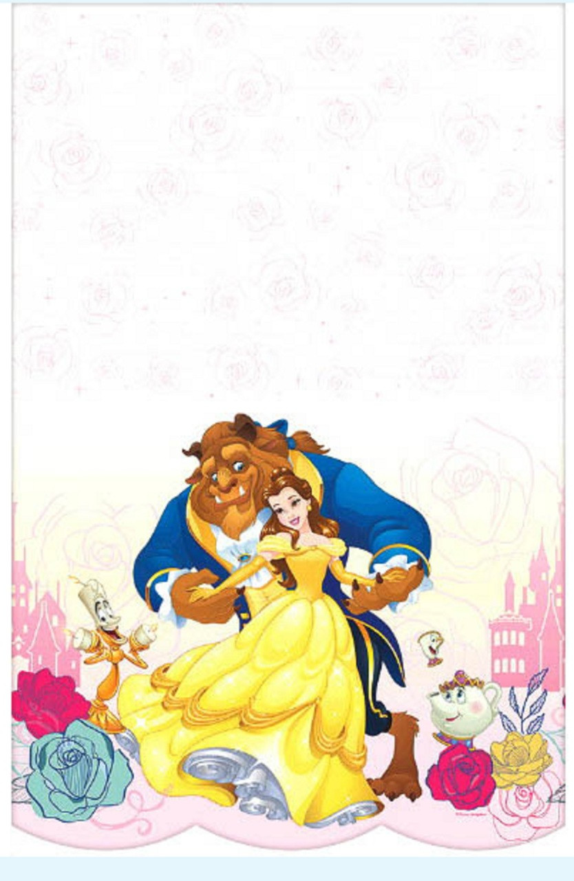 Beauty and The Beast Plastic Table Cover