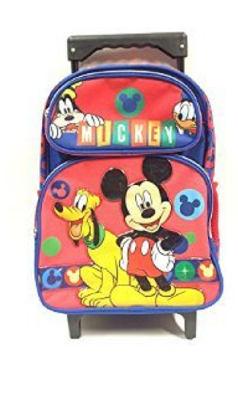 """Mickey Mouse Small Rolling Backpack - """"Mickey"""""""