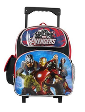 Avengers Age Of Ultron Small Rolling Backpack Book Bag