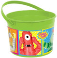 Yo Gabba Gabba Plastic Favor Bucket Container ( 1pc )