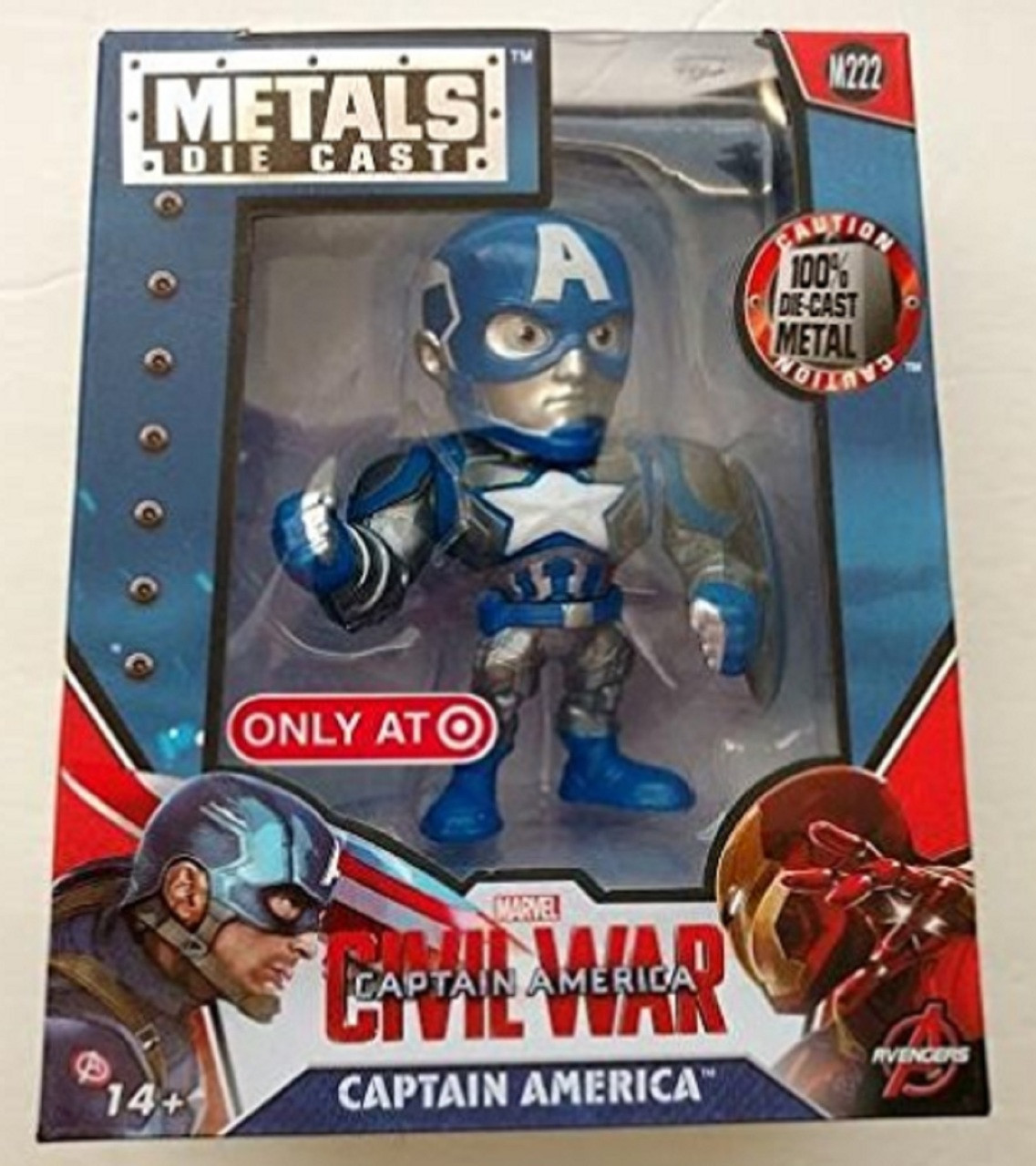 "Civil War Captain America 4"" Inch Metal Figure"