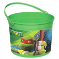 Teenage Mutant Ninja Turtles Plastic Favor Bucket Container ( 1pc )