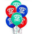 Pirate Party Pack of 6 Latex Helium Quality Balloons