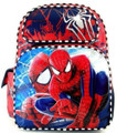 "Spiderman Large 16"" Cloth Backpack Book Bag - Black/Red"