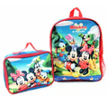 Mickey and Friends Medium Backpack with Detachable Lunchbox