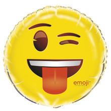 Emoji  Foil Helium 18 Inch Balloon Decoration Wink Face