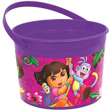 Dora the Explorer Plastic Favor Bucket Container ( 1pc ) - Purple