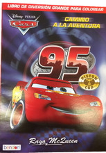 "Cars Spanish 96 pg. Coloring Book - ""Camino A La Aventura"""