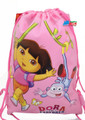 Drawstring Bag - Dora the Explorer Pink Cloth String Bag