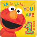 Sesame Street Large Lunch Plates Elmo/1st Birthday
