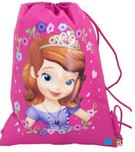 Drawstring Bag - Sofia 1st Sophia Hot Pink Cloth String Bag