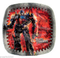Transformers Large 9 Inch Square Pocket Compartment Lunch Dinner Plates