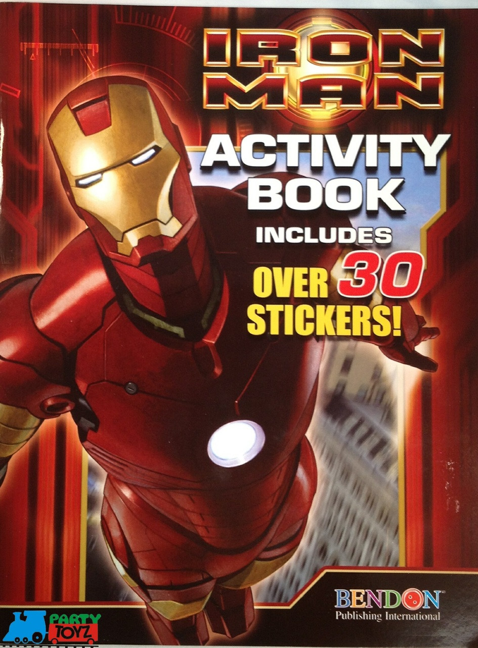 Marvel Iron Man Coloring and Activity Book with 30+ Stickers