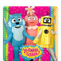Yo Gabba Gabba Square Small 7 Inch Party Cake Dessert Plates