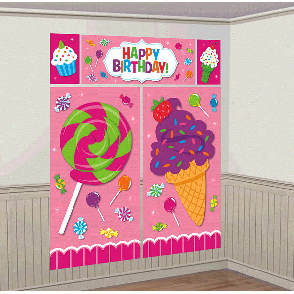 Sweet Shop Giant Scene Setter Wall Decorating Kit
