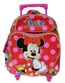 "Minnie Mouse Small Rolling 12"" Cloth Backpack Book Bag - Red"