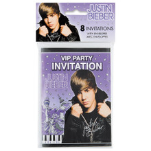 Justin Bieber Pack of 8 Invitations