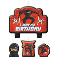 Ninja Birthday Candle Set