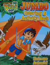 Diego Jumbo 96 pg. Coloring And Activity Book - Extreme Animals!