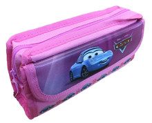 Cars Cloth Pencil Case Stationary Bag Coloring Box Pouch - Pink