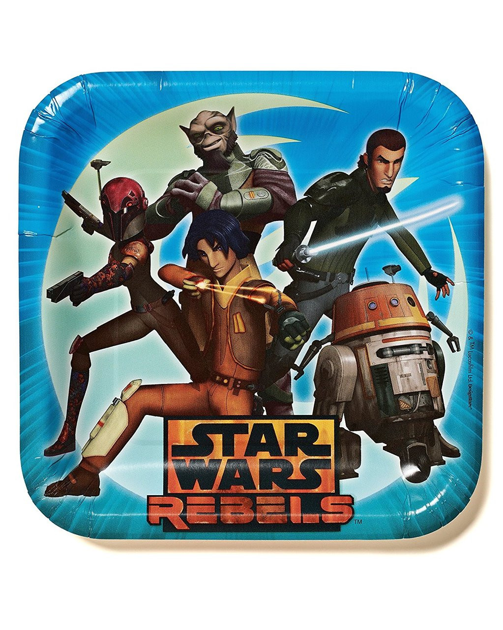 Star Wars Rebels Large 9 Inch Lunch Dinner Plates