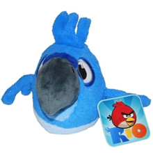 "Angry Birds Space Rio 5"" Plush Stuffed Toy No Music - Blue Macaw"