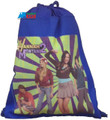 Drawstring Bag - Hannah Montana 2 Crew Blue Cloth String Bag