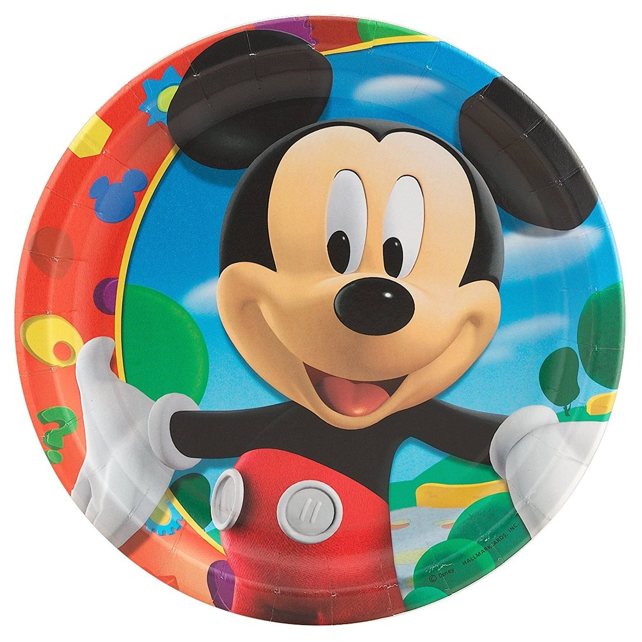 Mickey Mouse Clubhouse Large 9 Inch Round Lunch Dinner Plates