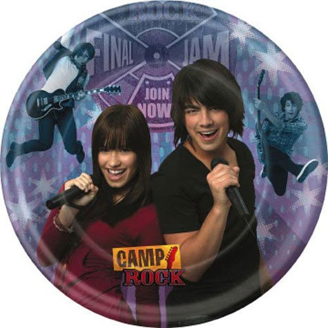 Camp Rock Large Round Lunch Dinner Plates