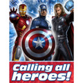 Marvel Avengers Pack of 8 Invitations