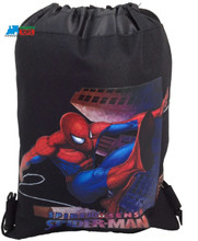 Drawstring Bag - Spider-Man Black Cloth String Bag