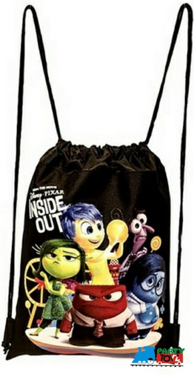 Drawstring Bag - Inside Out Black Cloth String Bag