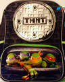 "Teenage Mutant Ninja Turtles Large 16"" Cloth Backpack Book Bag-Round Pocket"