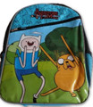 Adventure Time Blue Black Large 16 Inch Backpack