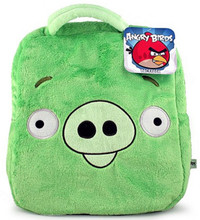 Angry Birds Green Pig Plush Backpack