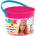 Barbie Sparkle Plastic Favor Bucket Container ( 1pc )