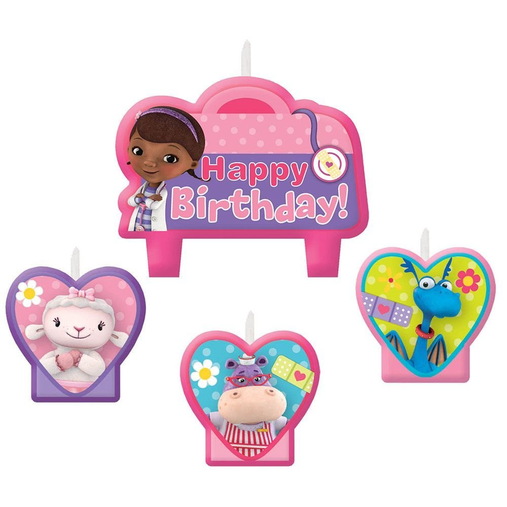 Doc McStuffins 4 Piece Molded Candle
