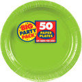 Big Party Pack Large 9 Inch  Paper Plates - Kiwi
