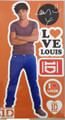 One Direction 1D Peel and Stick Reusable Wall Decal Stickers - Louis