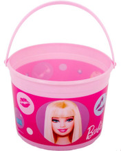 Barbie Doll Plastic Favor Bucket Container ( 1pc )