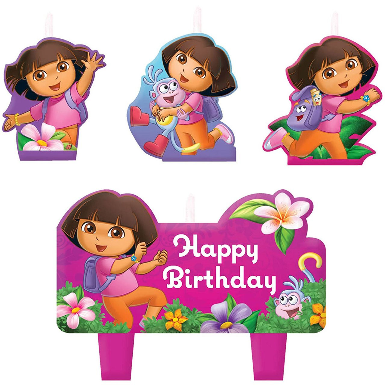 Dora the Explorer 4 Piece Molded Candle