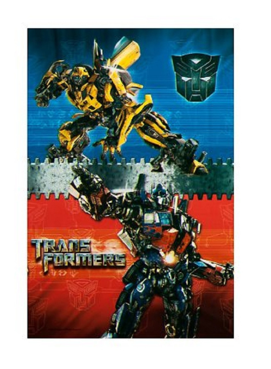 Transformers Plastic Tablecover Table Cover - Red