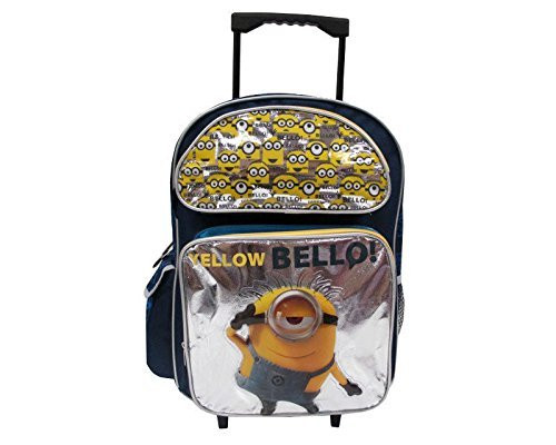 "Despicable Me Minions Large 16"" Kids Rolling Backpack -""Yellow Bello"""