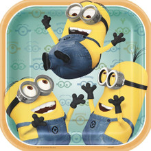 Despicable Me Square 7 Inch Small Party Cake Plates