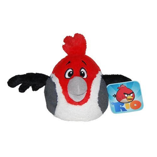 "Angry Birds Space Rio 5"" Plush Stuffed Toy No Music - Pedro the Cardinal"