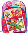 "Shopkins 16"" Large Cloth and Plastic Book Bag Pack Pink  - Polaroid Picture"